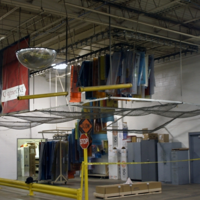 Die storage monorail for corrugated printing